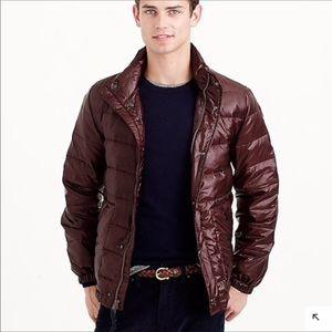 J CREW   Lightweight Puffer Down Jacket